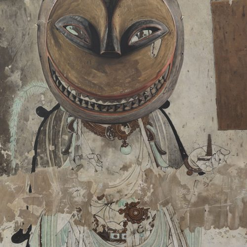 Evolution-Bodhisattva from the North Wall of Yulin Cave No. 025, Eket Mask