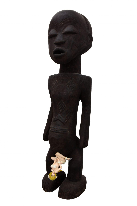 Evolution - Luba Male Statue, Charlotte Dunois