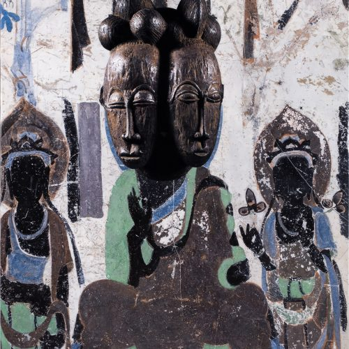 Evolution-Seated Buddha from the North Wall of Mogao Cave No. 390, Baoule Mask