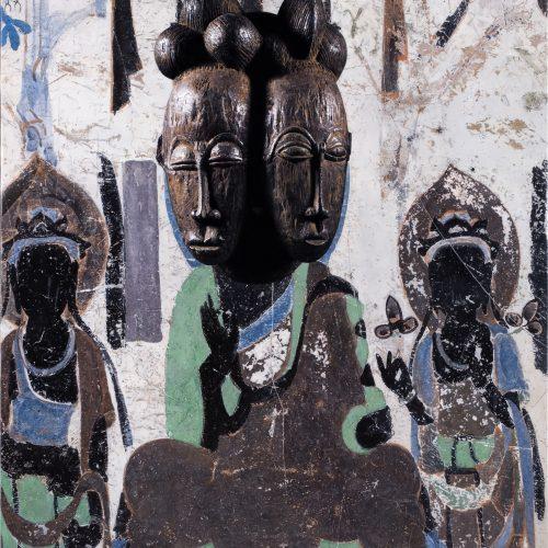 进化-莫高窟390窟主室北壁坐佛、Baoule 面具